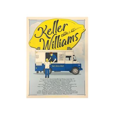 Keller Williams 2021 Spring Tour Poster, signed by Keller