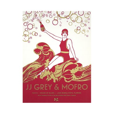 JJ Grey & Mofro NYE 2014 Poster