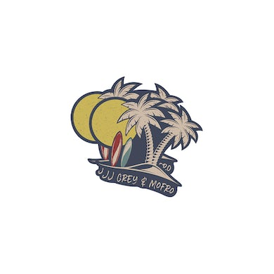 JJ Grey & Mofro Die Cut Palm Sticker (2- Pack)