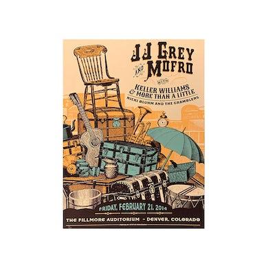 JJ Grey & Mofro Fillmore 2014 Poster