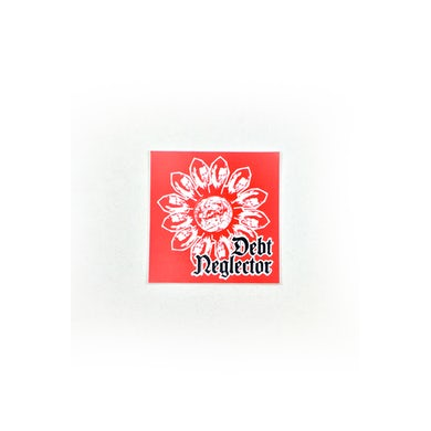 Debt Neglector Flower Sticker