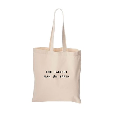 The Tallest Man On Earth Text Logo Tote