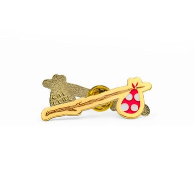 Cat Clyde Stick & Bindle Pin