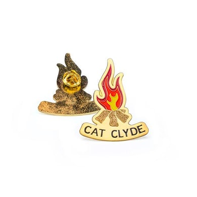 Cat Clyde Campfire Pin