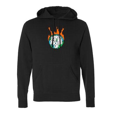 World On Fire Black Hoodie