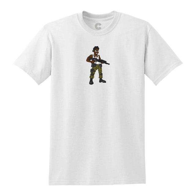 Luh Soldier Cartoon Soldier White Tee