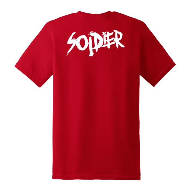 Luh Soldier Cartoon Soldier Red Tee