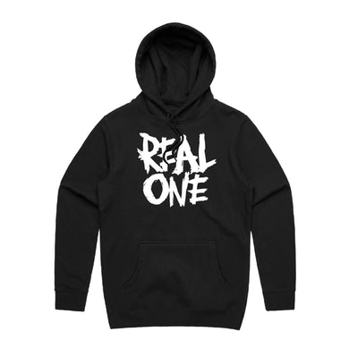 REAL ONE BLACK HOODIE
