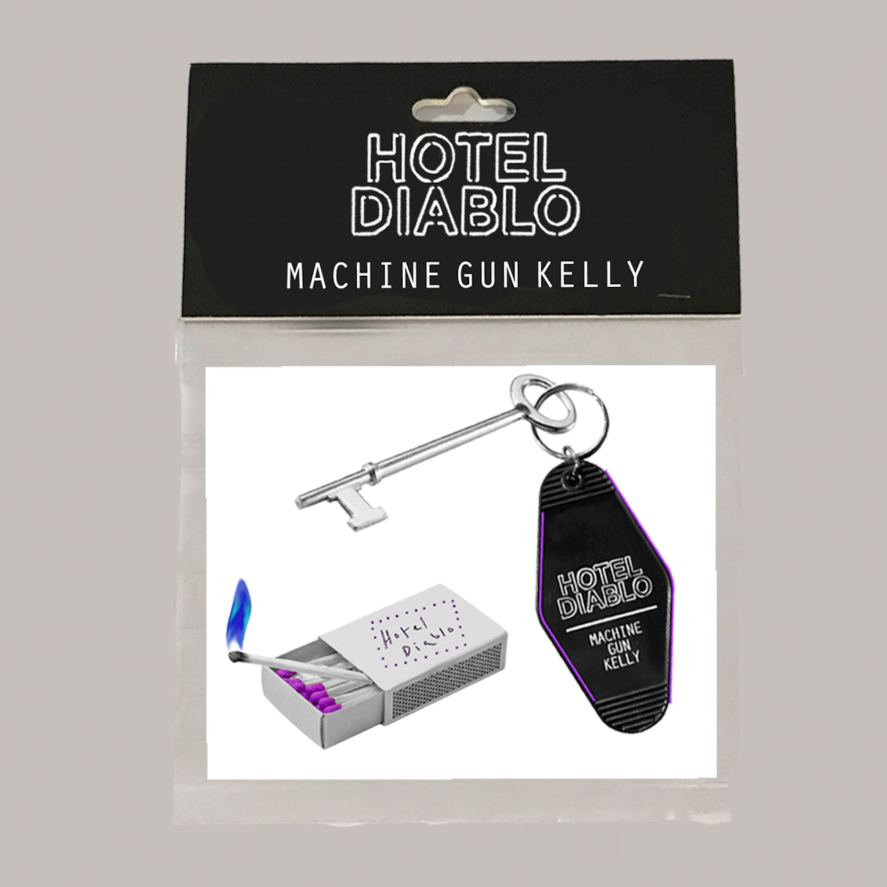 Machine Gun Kelly Hotel Diablo Stickers Est 19xx Bandana Hotel