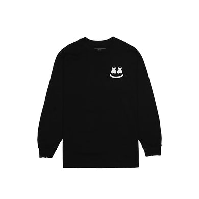Marshmello Smile Crest L/S Shirt — Black