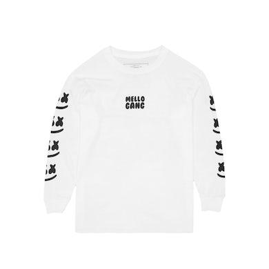 Marshmello Faces L/S Shirt (Youth) — White
