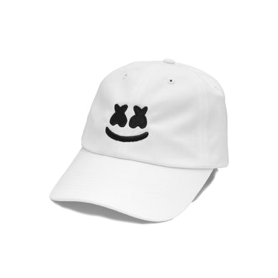 Marshmello Smile Dad Hat — White