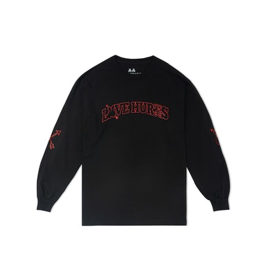 Marshmello Love Hurts L/S Shirt — Black