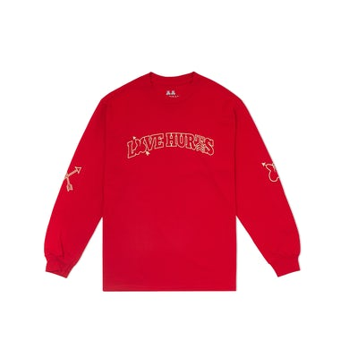 Marshmello Love Hurts L/S Shirt — Red