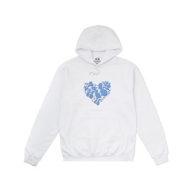 Marshmello Shattered Heart Hoodie — White