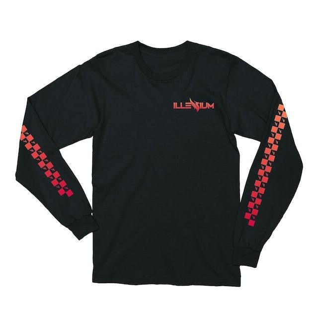 Illenium Checkered Long Sleeve / Black