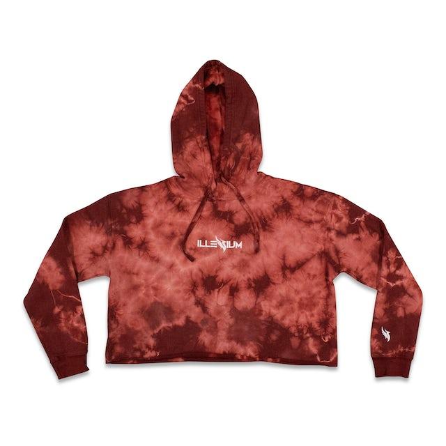 Illenium Tie Dye Crop Hoodie