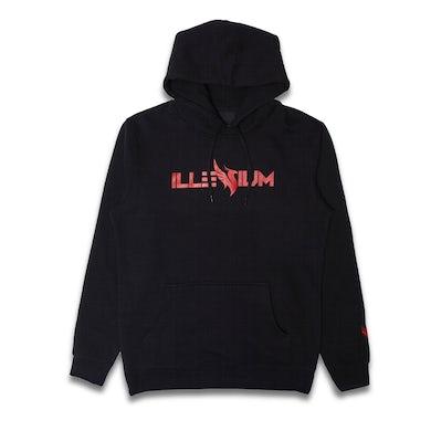 Illenium Logo Hoodie / Black & Red