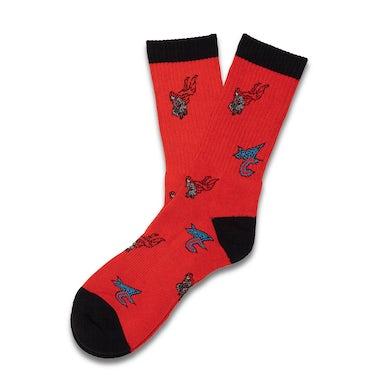 Adventure Club Red Holiday Socks