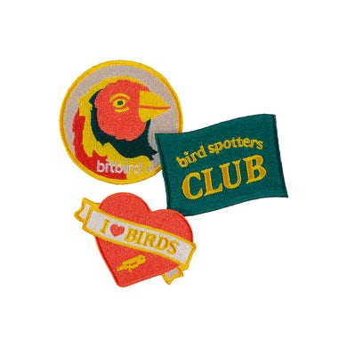 bitbird bird spotters club patches