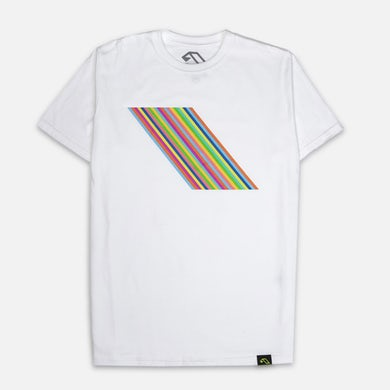 Anjunabeats 20 x Farrow Rainbow Tee - White