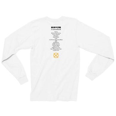 Kayzo Unleashed Album Lineup Long Sleeve / White