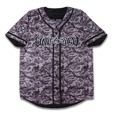 Kayzo Reversible Grey Camo Baseball Jersey