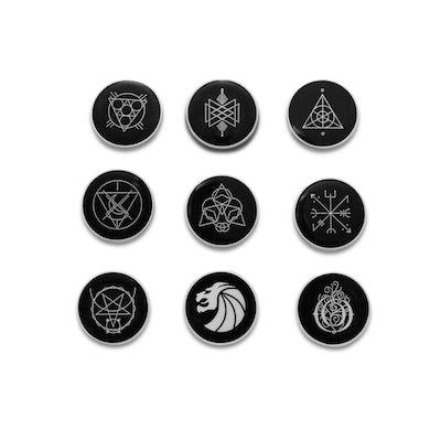 Seven Lions Pin Set - White