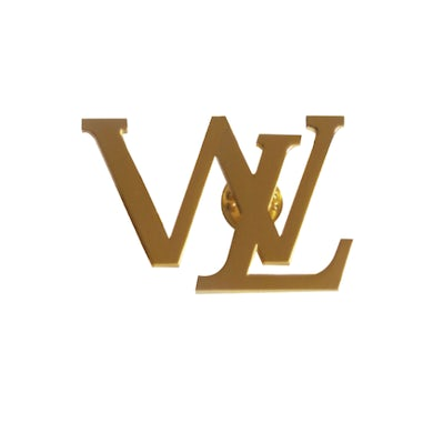 Gold Wooli Vuitton Pin