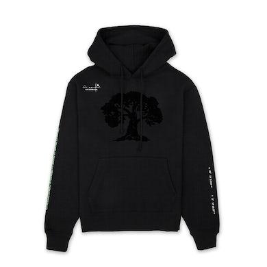 Porter Robinson velvet patch tree hoodie