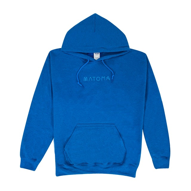 Matoma Embroidered Logo Hoodie (Sapphire Heather)