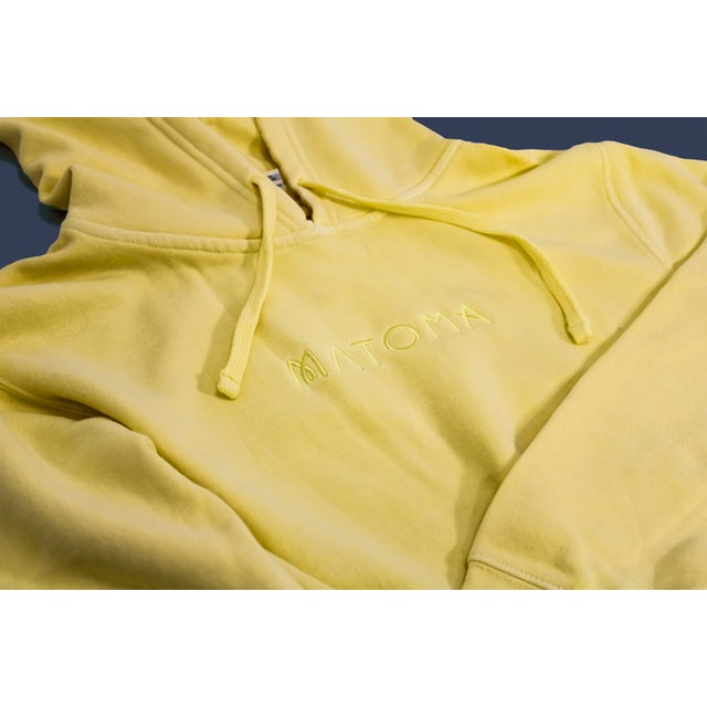Matoma Embroidered Logo Hoodie (Pale Yellow)