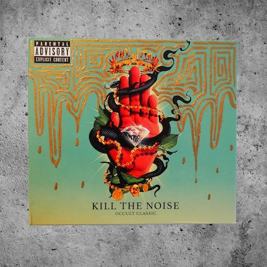 "Kill The Noise ""Gold Meltdown"" Custom Painted OCCULT CLASSIC CD"