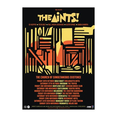 The Aints! The Church of Simultaneous Existence Tour Poster