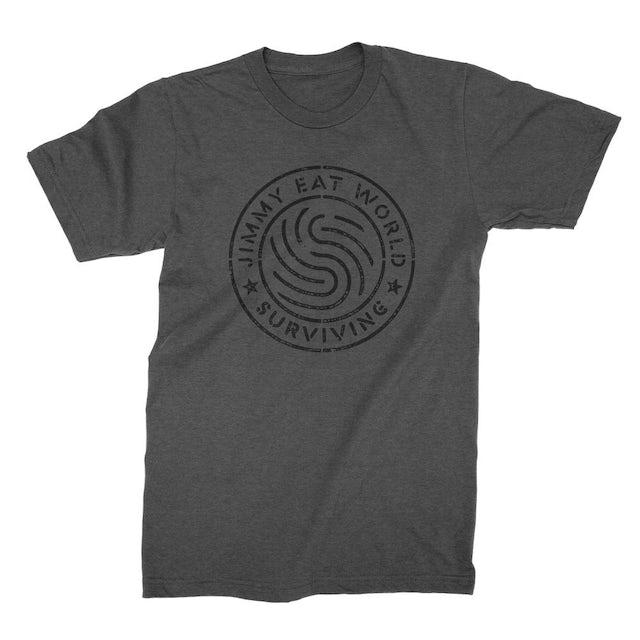 Jimmy Eat World Surviving Emblem T-shirt (Grey)