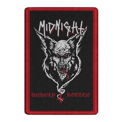 Midnight Unholy Rotten Embroidered Patch (Red)