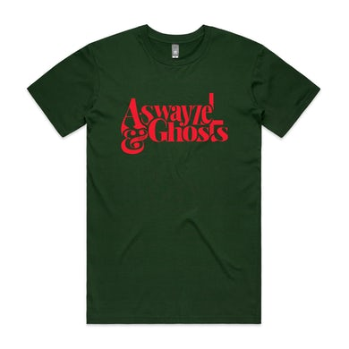 A. Swayze And The Ghosts Red Logo Tee (Forest Green)