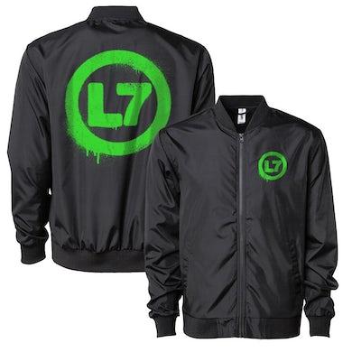 L7 Drip Logo Bomber Jacket (Black)