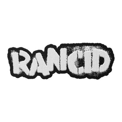Rancid Stencil Logo Die Cut Patch (White or Green)
