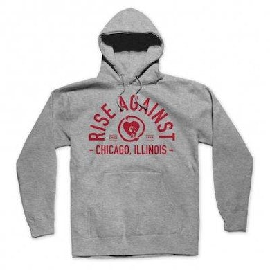 Rise Against Classic Arch Hoodie (Grey)