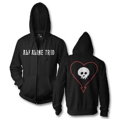 Alkaline Trio Classic Heartskull Zip Hoodie (Black)