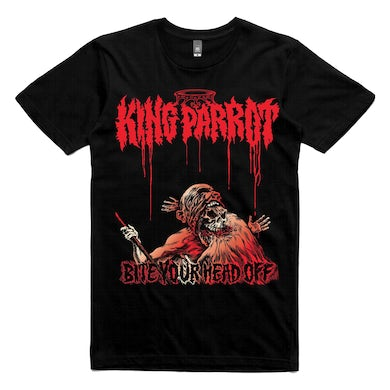 King Parrot Bite Your Head Off T-shirt (Black)