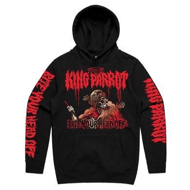 King Parrot Bite Your Head Off Pullover Hoodie (Black)