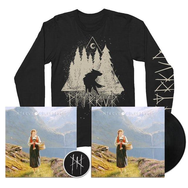 Myrkur Folksange LP + Wolf Forrest Longsleeve + Signed Litho + Patch (Vinyl)