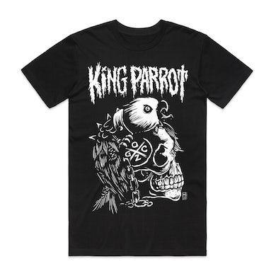 King Parrot Eagle Skull T-shirt (Black)