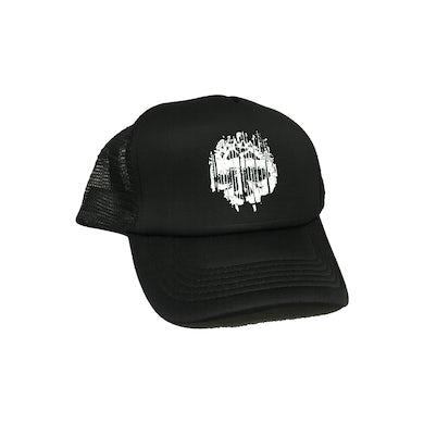 Skull Logo Trucker Hat (Black/Black)