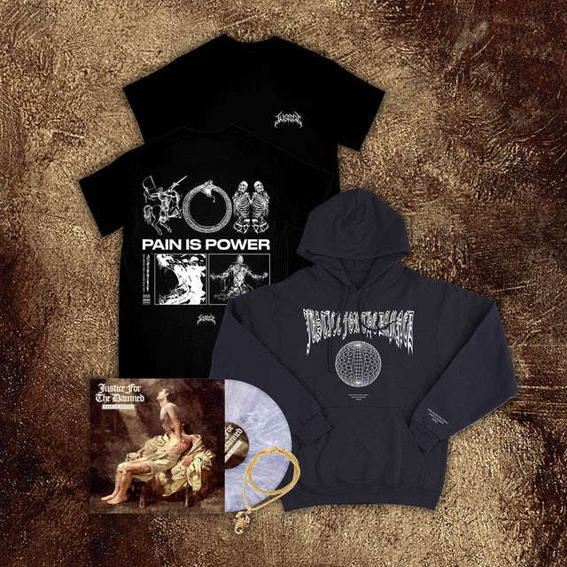 Justice For The Damned Pain Is Power LP Autumn Bundle (Vinyl)