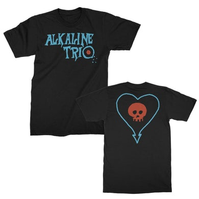 Alkaline Trio EP Logo Heartskull Tee (Black)