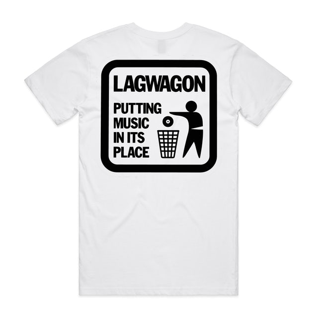 Lagwagon Putting Music In It's Place T-shirt (White)