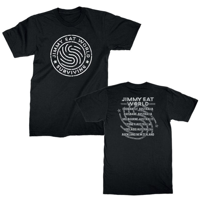 Jimmy Eat World Emblem Tee (Black) NZ Tour Edition
